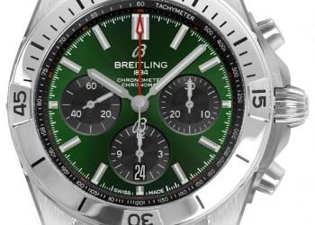 Breitling Chronomat B01 Green Bentley Dial Mens Watch AB01343A1L1A1