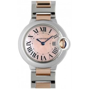 Copy Cartier Ballon Bleu 28mm Ladies Watch W2BB0009