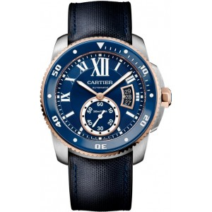 Copy Cartier Calibre De Cartier Diver Blue 42mm Mens Watch W2CA0008
