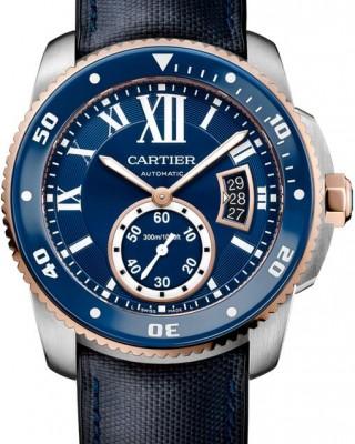 Copy Cartier Calibre De Cartier Diver Blue 42mm Mens Watch W2CA0008