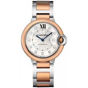 Copy Cartier Ballon Bleu De Cartier 36mm Ladies Watch W3BB0007