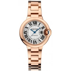 Copy Cartier Ballon Bleu De Cartier 33mm Ladies Watch W6920096