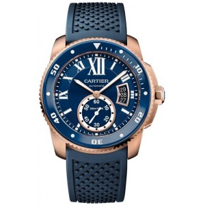 Copy Cartier Calibre De Cartier Diver Blue 42mm Mens Watch WGCA0010
