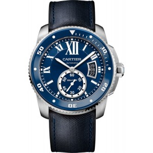 Copy Cartier Calibre De Cartier Diver Blue Watch WSCA0010