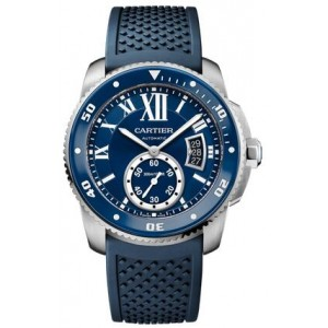 Copy Cartier Calibre De Cartier Diver Blue 42mm Mens Watch WSCA0011