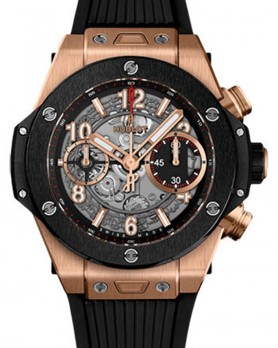 Copy Hublot Big Bang Unico King Gold Ceramic 42mm Watch 441.OM.1180.RX