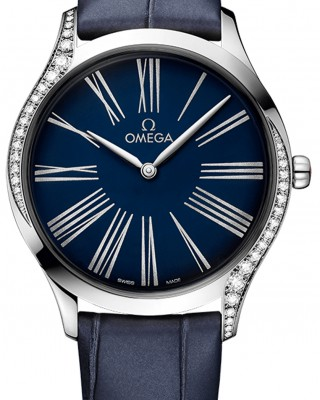 Copy Omega De Ville Steel Diamonds Watch 428.18.36.60.03.001