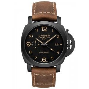 Copy Panerai Luminor 1950 3 Days GMT Ceramica Watch PAM00441