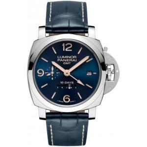 Copy Panerai Luminor 1950 10 Days GMT Acciaio 44mm Watch PAM00689