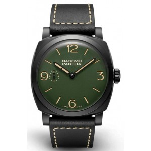 Copy Panerai Radiomir 48mm Ceramic Military Green Watch PAM00997