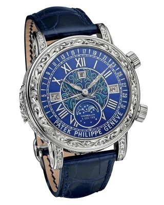 Copy Patek Philippe Sky Moon Tourbillon Watch 6002G-001