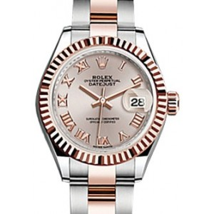 Copy Rolex Datejust 28 Sundust Roman Fluted Watch 279171