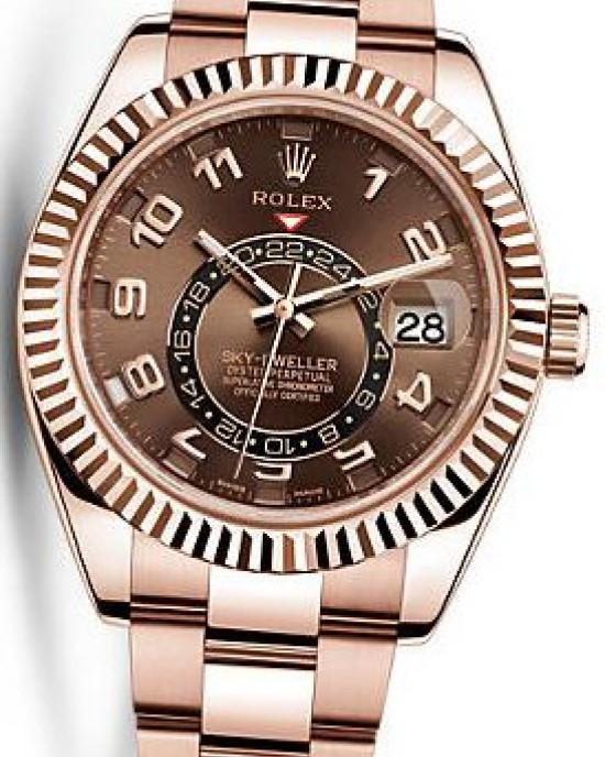 Copy Rolex Sky Dweller Mens Watch 326935 Chocolate