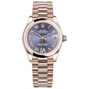 Copy Rolex Datejust 31mm Everose Gold Ladies Watch M278245-0028
