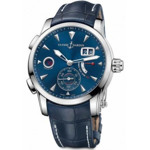 Copy Ulysse Nardin Dual Time Manufacture 42mm Watch 3243-132LE/BQ
