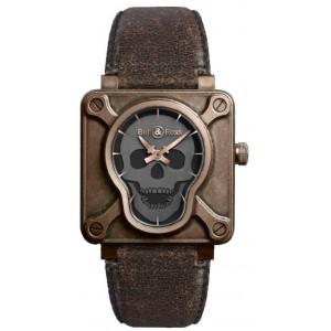 Copy Bell & Ross Aviation BR 01 Skull Bronze Watch BR 01 Skull Bronze