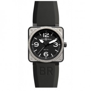Copy Bell & Ross Aviation BR 01-92 Top Diamond & Carbon Mens Watch BR 01-92 Top Diamond & Carbon