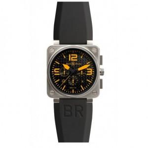 Copy Bell & Ross Aviation BR 01-94 Titanium Orange Mens Watch BR 01-94 Titanium Orange