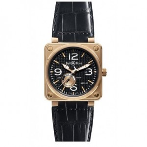 Copy Bell & Ross Aviation BR 01-97 Power Reserve Gold Mens Watch BR 01-97 Power Reserve Gold