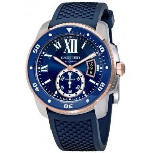 Copy Cartier Calibre De Cartier Diver Blue 42mm Watch W2CA0009