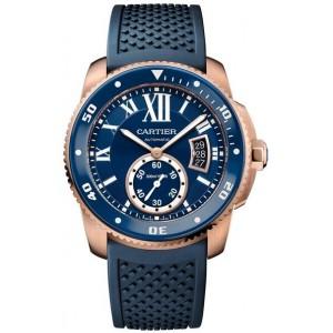Copy Cartier Calibre De Cartier Diver Blue 42mm Mens Watch WGCA0010