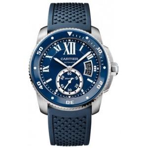 Copy Cartier Calibre De Cartier Diver Blue 42mm Mens Watch WSCA0011