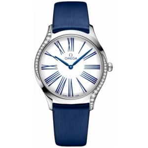Copy Omega De Ville Steel Diamonds Watch 428.17.36.60.04.001