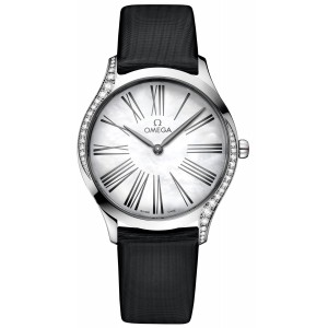 Copy Omega De Ville Steel Diamonds Watch 428.17.36.60.05.001