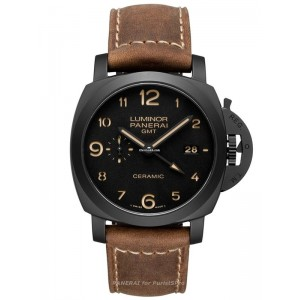 Copy Panerai Luminor 1950 3 Days GMT Ceramica Watch PAM00441