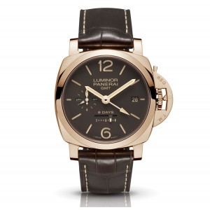 Copy Panerai Luminor 1950 44 8 Days GMT Watch PAM00576