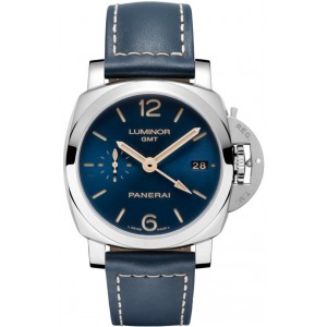 Copy Panerai Luminor 1950 3 Days GMT Acciaio 42mm Watch PAM00688