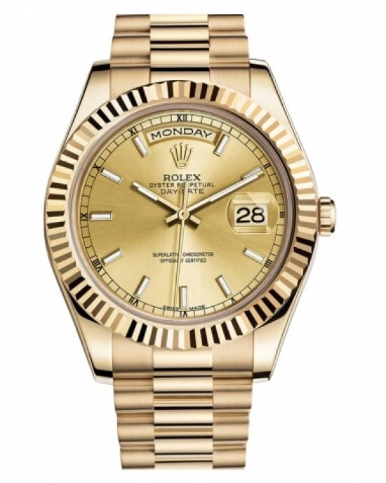 Copy Rolex Day Date II Watch 218238 CHIP