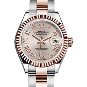 Copy Rolex Datejust 28 Sundust Roman Fluted Watch 279171