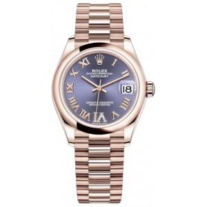 Copy Rolex Datejust 31mm Everose Gold Ladies Watch M278245-0028